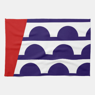 des moines city flag united state america iowa kitchen towel