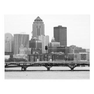 Des Moines in B&W Postcard