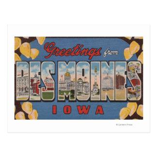 Des Moines, Iowa - Large Letter Scenes 2 Postcard