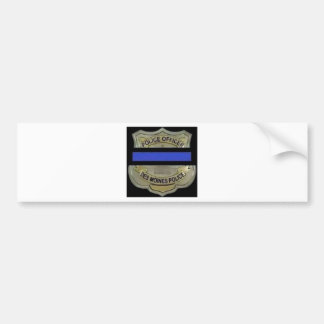 Des Moines Police Bumper Sticker