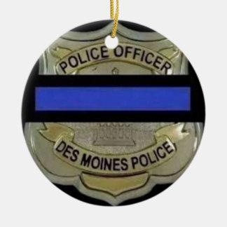 Des Moines Police Ceramic Ornament