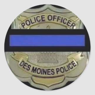 Des Moines Police Classic Round Sticker