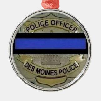 Des Moines Police Metal Ornament