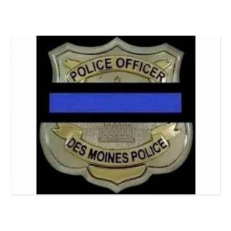Des Moines Police Postcard