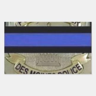 Des Moines Police Rectangular Sticker