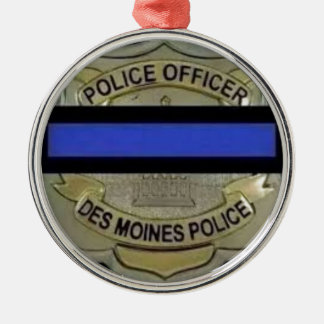 Des Moines Police Silver-Colored Round Decoration