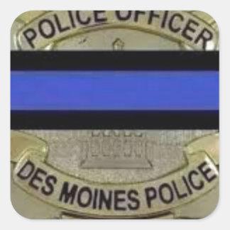 Des Moines Police Square Sticker