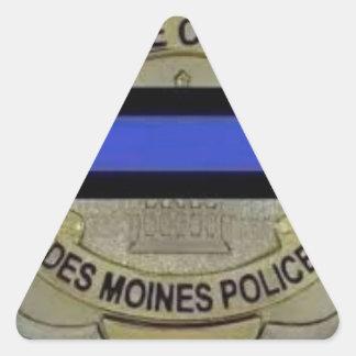 Des Moines Police Triangle Sticker
