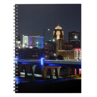 Des Moines Skyline With Orlando Tribute Notebook