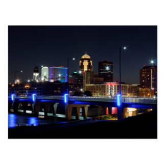 Des Moines Skyline With Orlando Tribute Postcard