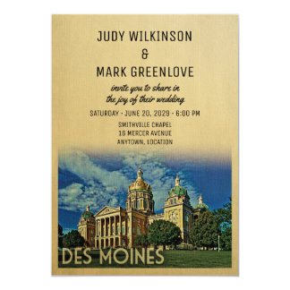 Des Moines Wedding Invitation Iowa