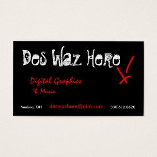 Des Waz Here business cards