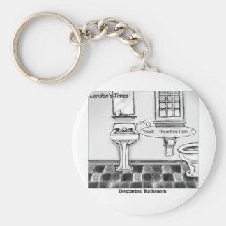 Descartes' Bathroom Funny Tees Mugs Cards & Gifts Key Ring