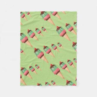 Descending Ice Cream Cones Fleece Blanket