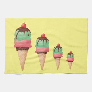 Descending Ice Cream Cones Tea Towel