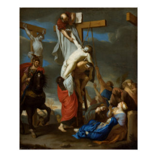 Descent from the Cross by Charles le Brun Poster