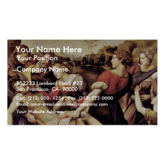 Descent From The Cross By Raffael (Best Quality) Business Card Template