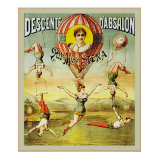 Descente d Absalon Vintage Circus Posters