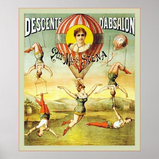 Descente d'Absalon ~ Vintage Circus Posters