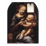 Description Benois Madonna Leonardo da Vinci Oil o Post Card