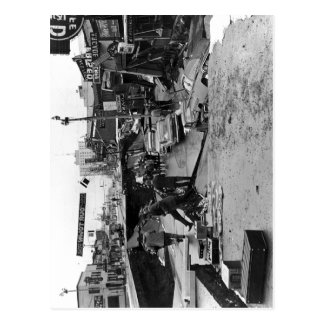 Description Damage to Fourth Avenue, en:Anchorage, Postcard