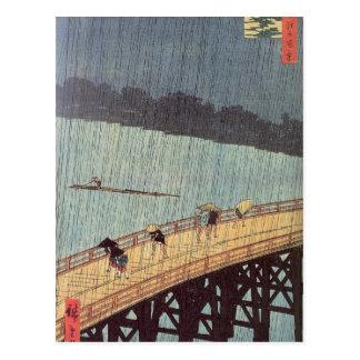 Description Description Le pont Ohashi et Atake so Postcard