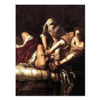 Description Judith Beheading Holofernes , Oil on c Postcard