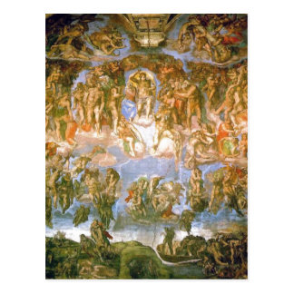 Description Last Judgement - painted by Michelange Postcard