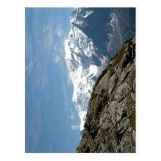Description Mont Blanc and Dome du Gouter photo ta Postcard