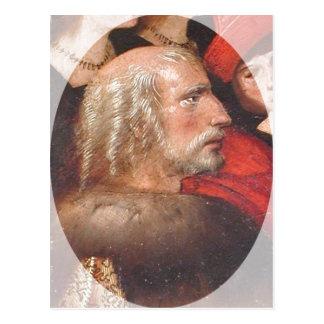 Description Painting of Christopher Columbus. The  Postcard