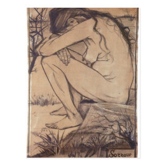 Description Sorrow drawing Wallsall Museum and Art Postcard