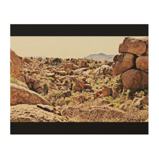 Desert Boulders on Wood Wall Art. Wood Print
