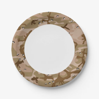 Desert Brown Camouflage. Camo your Paper Plate