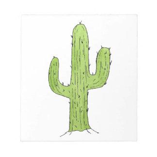 Desert Cactus Design Notepad