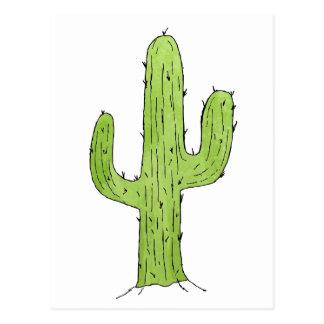 Desert Cactus Design Postcard