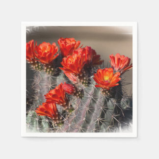 Desert Cactus Flower Disposable Napkins