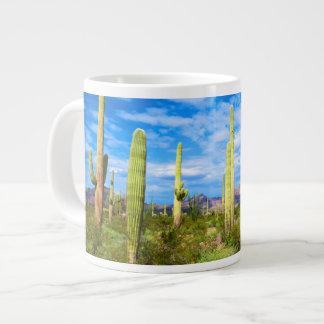 Desert cactus landscape, Arizona Large Coffee Mug