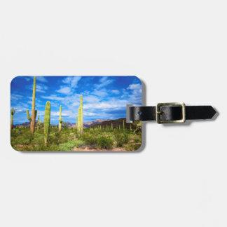 Desert cactus landscape, Arizona Luggage Tag