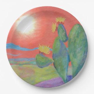 Desert Cactus Paper Plate