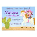 Desert Cactus, Pink Cowgirl Birthday Party Invite 13 Cm X 18 Cm Invitation Card