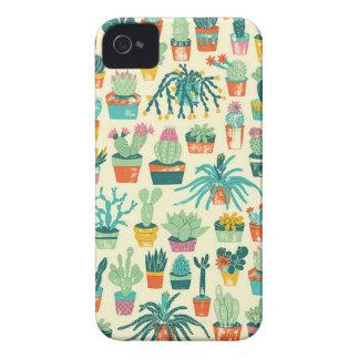 Desert Cactus Plant Pattern iPhone 4 Case
