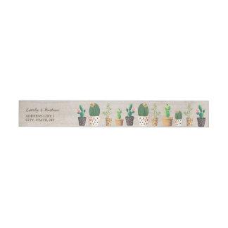 Desert Cactus Wrap Around Return Address Label Wraparound Address Label