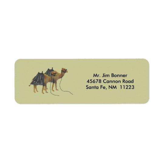 Desert Camels Return Address Labels
