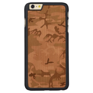 Desert Camo - Brown Camouflage Carved Cherry iPhone 6 Plus Case