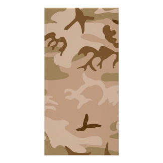 Desert Camo - Brown Camouflage Photo Cards