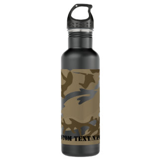 Desert Camo Camoflauge Background Pattern Water 710 Ml Water Bottle
