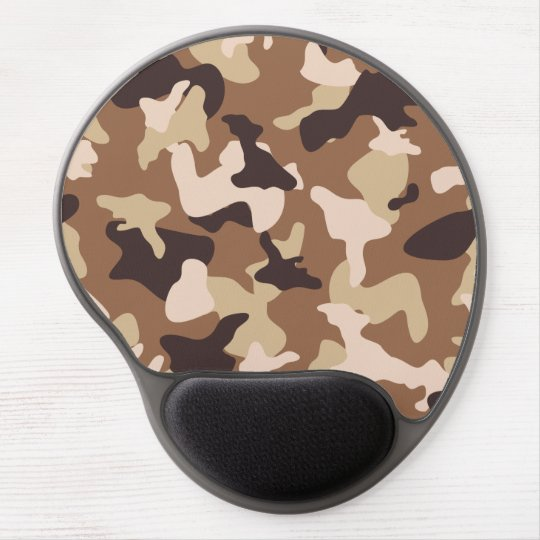 Desert camo sand camouflage army pattern gel mouse pad