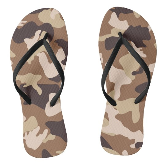 Desert camo sand camouflage army pattern thongs