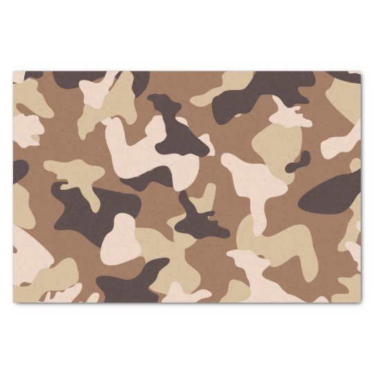 Desert camo sand camouflage army pattern tissue paper