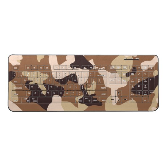 Desert camo sand camouflage army pattern wireless keyboard